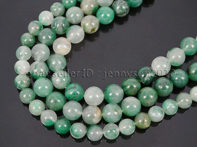 Natural African Green Calcedony Jasper Gemstone Round Spacer Beads 16'' 8mm 10mm