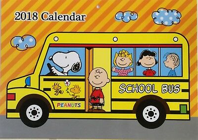 Peanuts Snoopy Wall hanging Japanese Calendar 2018 Year 12 month A3 Size