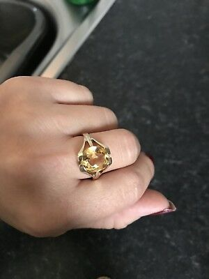 Gold Ring Yellow Diamond Not Real