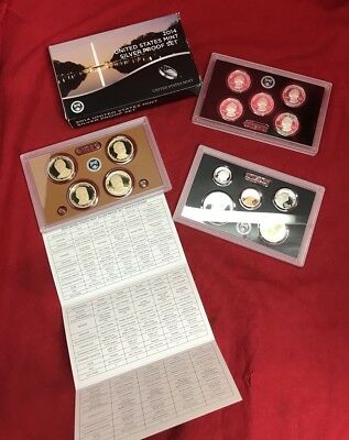 2014-S United States Silver Proof Coin Set in Original Box With COA