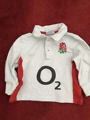Official England Rugby Shirt 6-9 Months
