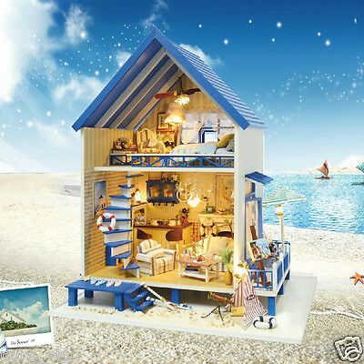DIY Handcraft Miniature Project Wooden Dolls House My Aegean Sea Beach House