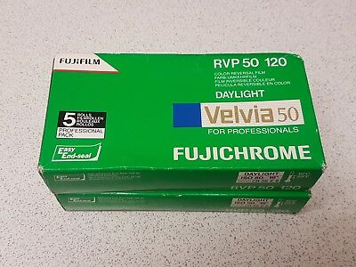 Velvia 50 120 roll pack of 10. Out of date (2014)