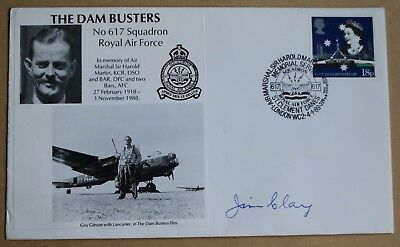 617 Squadron Dambusters Squadron 1989 Cover Signed  By Bomb Aimer James Clay