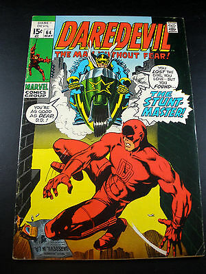 Bronze Age Marvel Comics Daredevil #64 1970 FN