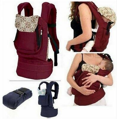 Adjustable Cotton Baby Carrier Comfort Backpack Buckle Sling Wrap Front Back