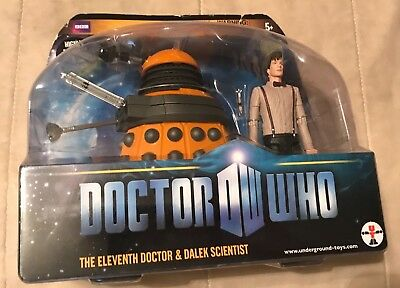 2010 SDCC Exclusive Dr. Who The Eleventh Doctor & Dalek Scientist *NEW & Rare*