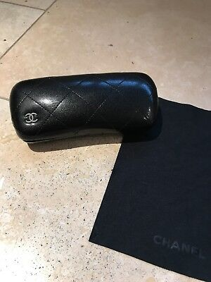 CHANEL. Vintage Quilted Hard Sunglasses/Glasses Case