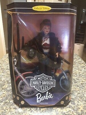 Harley Davidson Mattel 1988 Barbie Motorcycle Doll Collectible - Auburn
