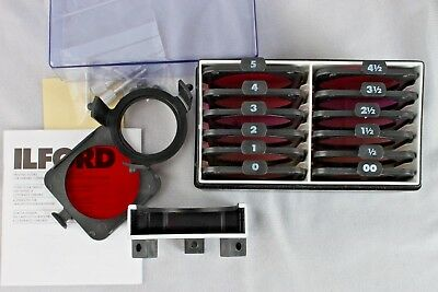 NEW ILFORD MULTIGRADE KIT Of 12 Filters Below The Lens Never USED FREE SHIPPING!
