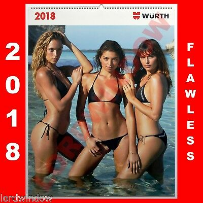 Wurth Sexy Erotic Photo Wall Calendar Girls 2018 Bikini Swimsuit  Models Ladies
