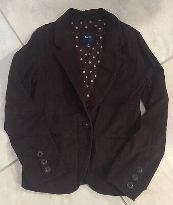 Gap Kids Girls Chocolate Brown Corduroy Jacket Lined Size L 10 EUC