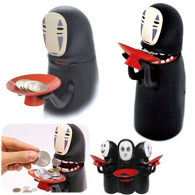 Coin Bank Spirited Away No-Face Man Kaonashi Music Piggy Bank Figure Gift In UK