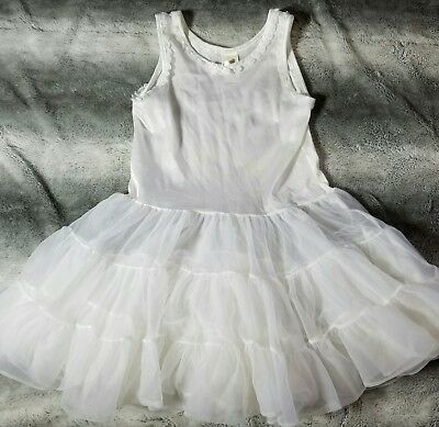 Girls Full Slip Sz 6 Copper Key Petticoat Ruffles Stand out slip