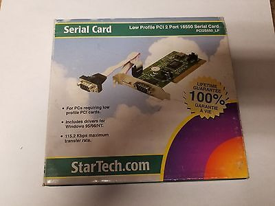 StarTech.com 2 Port PCI Low Profile RS232 Serial Adapter Card with 16550 UA