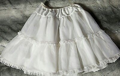 Girls half slip Copper Key Petticoat Ruffle Stand Out slip Sz 4