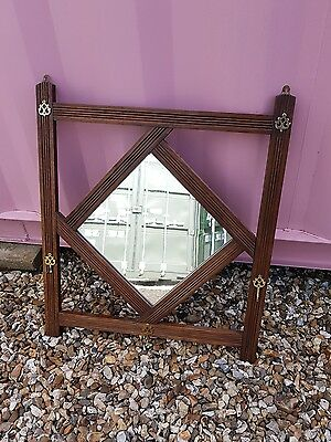 Edwardian  oak hall mirror