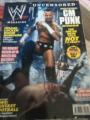 WWE Magazine October 2011 Signed By CM Punk