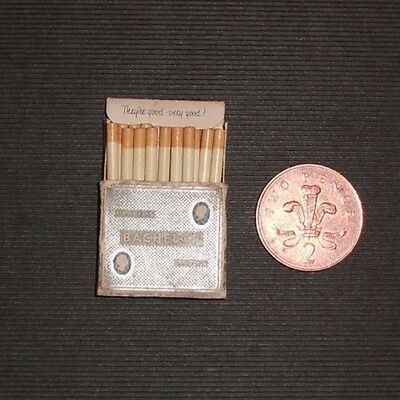 Miniature Cigarette Packet Players Batchelor Tipped With Contents
