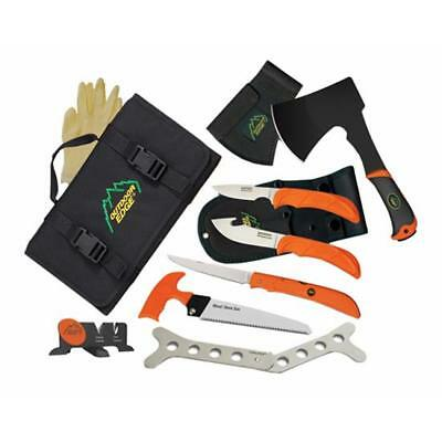 "Outdoor Edge OF-1 The Outfitter Hunting Fixed Knife Set 10"" Axe Blk/Orange"