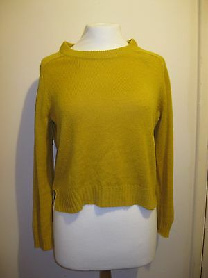 Ochre yellow cropped jumper | H&M | S