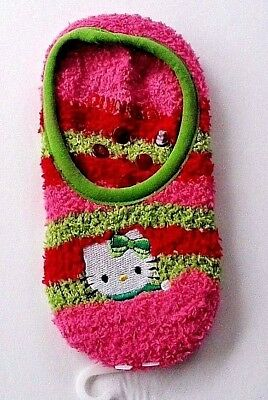 Hello Kitty girls 1 pair slipper socks shoe size 7 1/2-3 1/2 nwot