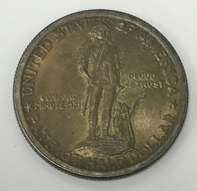 1925 Lexington-Concord Sesquicentennial Silver Commemorative Half Dollar
