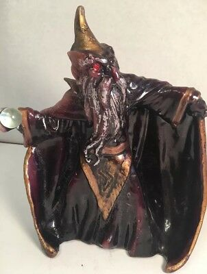 """Merlin The Wizard Throwing Crystal Ball Candle 9""""h"""