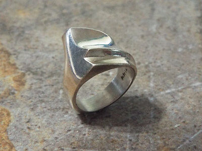Mexican Silver Taxco Ring- Size 9 Modernist Chunky Jewelry