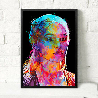 Unframed Spray Printed Oil Painting Princess Deanerys Game of Thrones Wall Decor