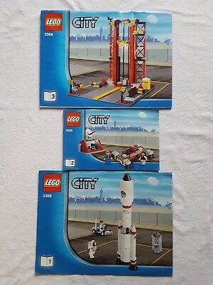 Lego City 3368 Space Station Centre Instructions  ONLY