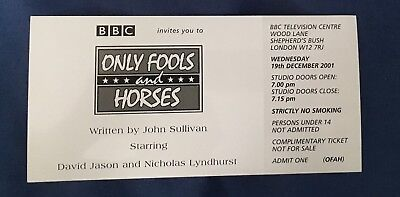 Original Only Fools and Horses Recording Ticket