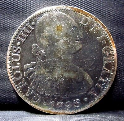 1793 Mexico 8 Reales ✪ Portrait Style ✪ City Silver Mo Fm L@@k Now ◢Trusted◣
