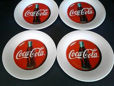 """1996 Coca Cola Plate by the Gibson Glass Company, 7 1/2"""" Set of 4"""