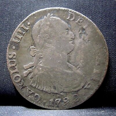 1792 Mexico 4 Reales ✪ Portrait Style ✪ City Silver Mo L@@k Now ◢Trusted◣