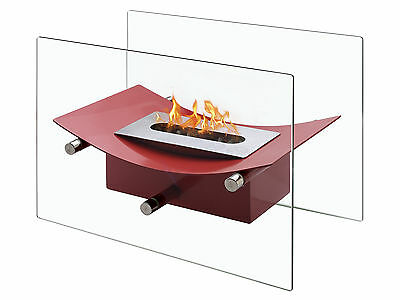 Verona Red - Ignis Ventless Tabletop Bio Ethanol Fireplace - Eco Friendly