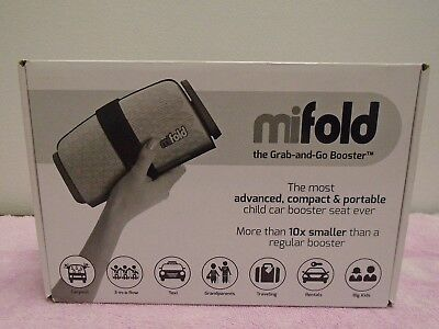 Mifold grab and go booster seat portable child booster seat pearl grey