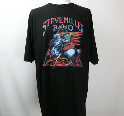 Steve Miller Band Concert Tour 2016 T Shirt Short Sleeve Graphic Black Size XXL