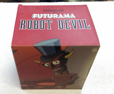 "Futurama Kidrobot - Robot Devil - 6"" Six Inch Figure - Never Opened / Rare !!"