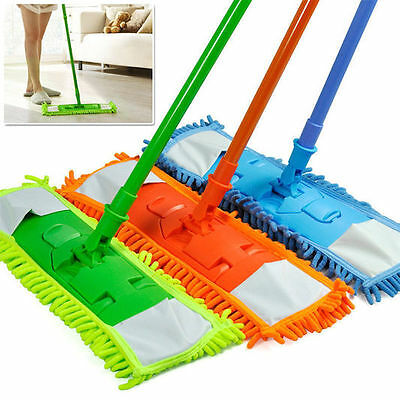 Extendable Microfibre Mop Sweeper Wooden Laminate Tile Floor Wet Dry Uk