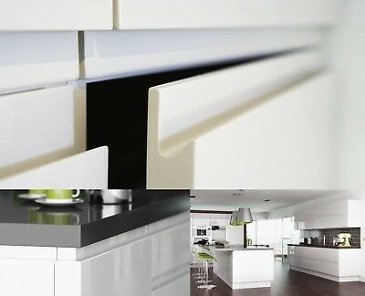 Complete Kitchen Wall Units Handless White Hi High Gloss New 18Mm Cabinets