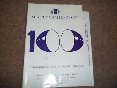 Rugby League Challenge Cup Widnes Vikings V Clayton Arlfc 3Rd Round 26 Jan 1997