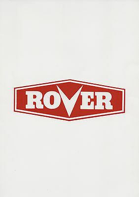 Rover Vintage Mower Repro Red Decal