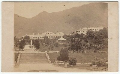 Topographical CDV: the PUBLIC GARDENS in HONG KONG photographed by AFONG