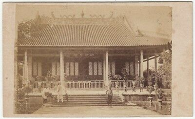 Topographical CDV: a TEMPLE in HONG KONG photographed by AFONG