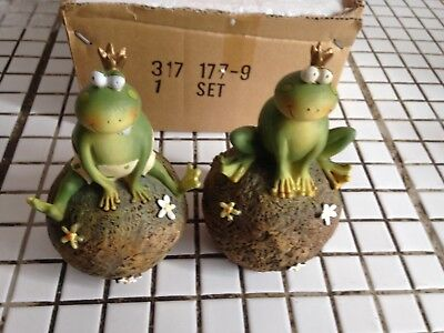 Lot De 2 Figurines Roi Grenouille Neuves