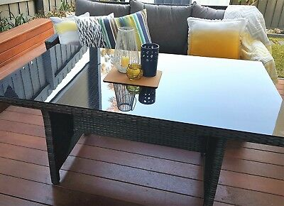 Outdoor Wicker and Glass Top Dining Table MINT CONDITION!