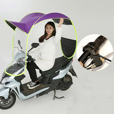 Universal Car Motor Scooter Safe Umbrella Mobility Rain Sun Shade Cover HOT