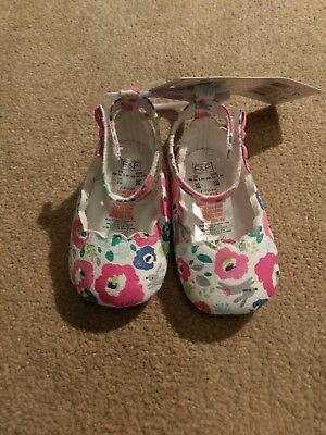 Baby floral ballet looking shoes up to 3 months girl baby colourful