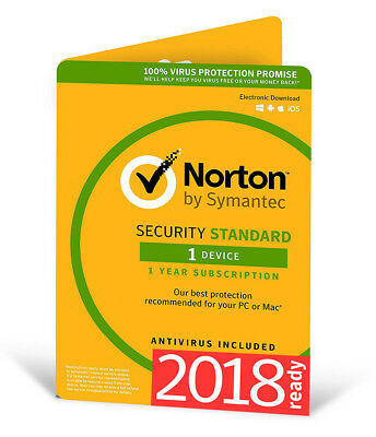Norton Internet Security Standard 2018 1 Device 1 PC 1Year PC MAC Android 2017